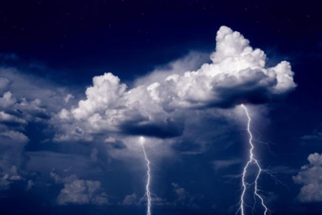 lightning fell