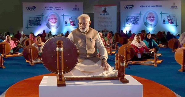 image of nrendr modi with charkha